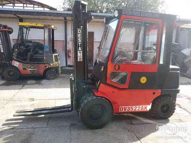 VZV Vysokozdvižný vozík Desta DV35A po kompletní GO