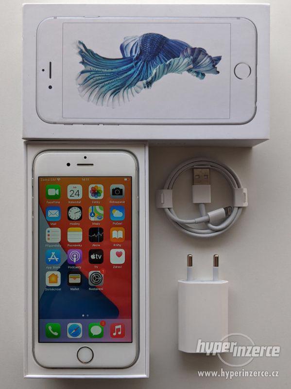 iPhone 6s 32GB stříbrný, baterie 100% záruka 6 měsícu - foto 1
