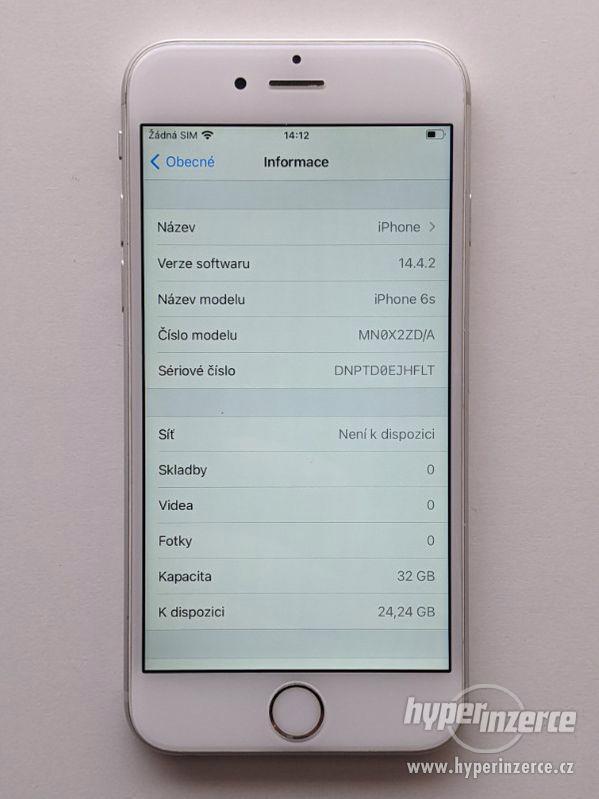 iPhone 6s 32GB stříbrný, baterie 100% záruka 6 měsícu - foto 3
