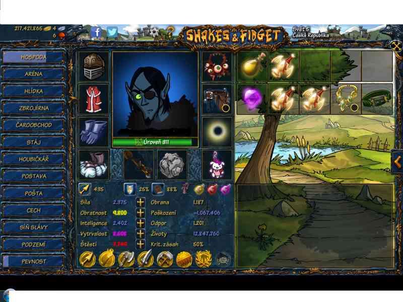 Prodám účet na SFgame level 311 - foto 1