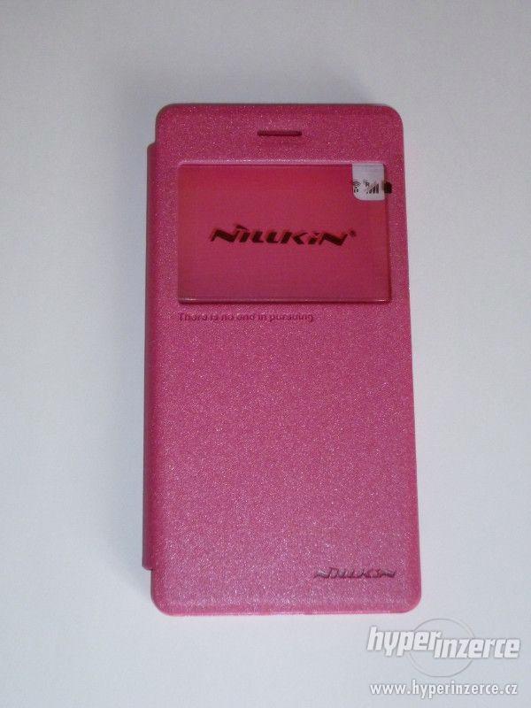 LENOVO Vibe Shot Z90 book case flip pouzdro Nillkin růžové - foto 3