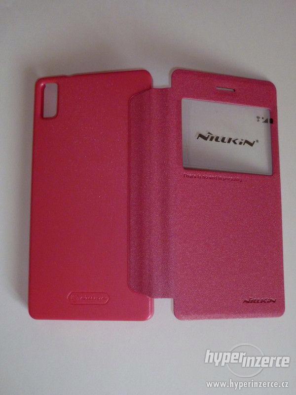 LENOVO Vibe Shot Z90 book case flip pouzdro Nillkin růžové - foto 4